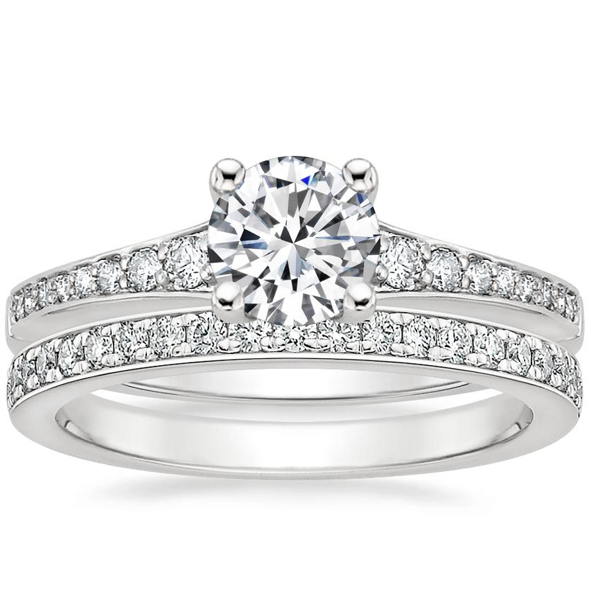 18K White Gold Poetica Diamond Ring with Geneva Diamond Ring