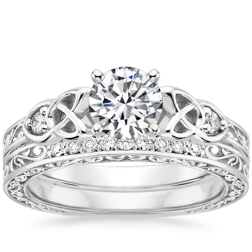 18K White Gold Aberdeen Diamond Bridal Set