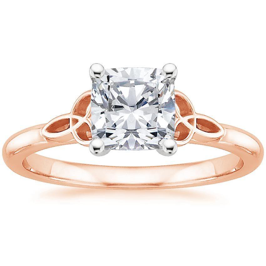 14k Rose Gold Celtic Love Knot Ring