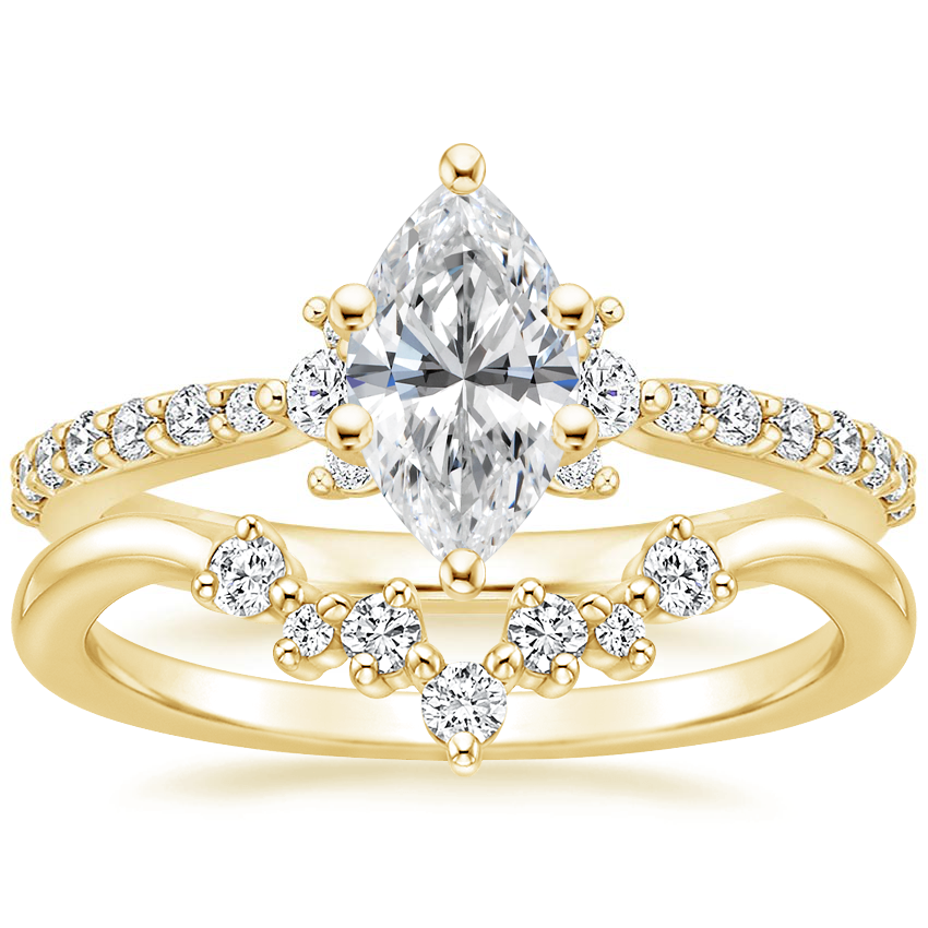 18K Yellow Gold Melina Diamond Ring (1/4 ct. tw.) with Caris Diamond Ring