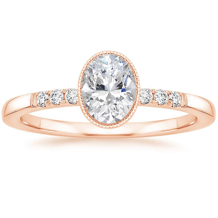 Oval 14K Rose Gold Imogen Diamond Ring