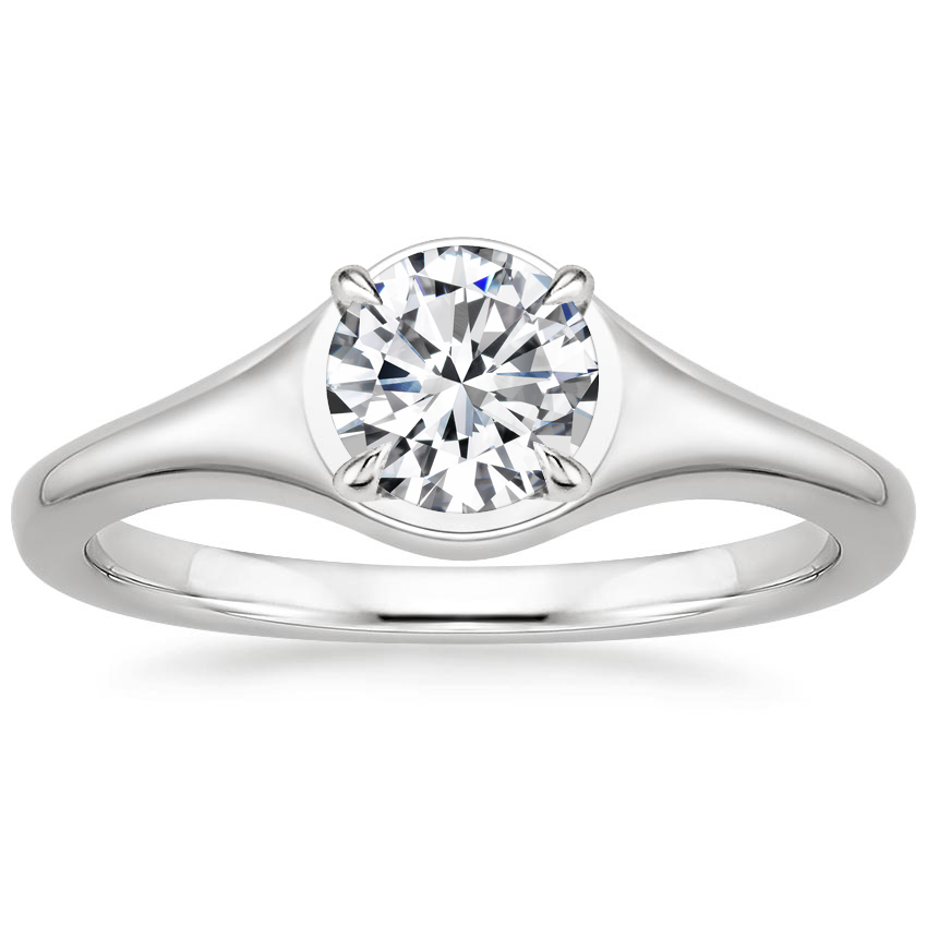 Round Signet Inspired Engagement Ring