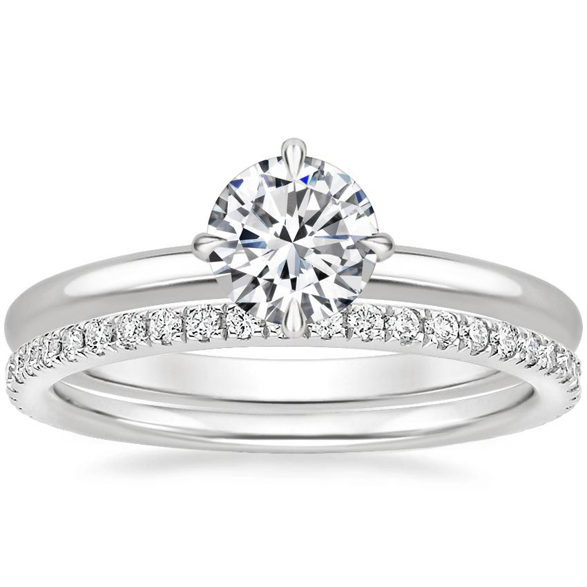 18K White Gold North Star Ring with Luxe Ballad Diamond Ring (1/4 ct. tw.)