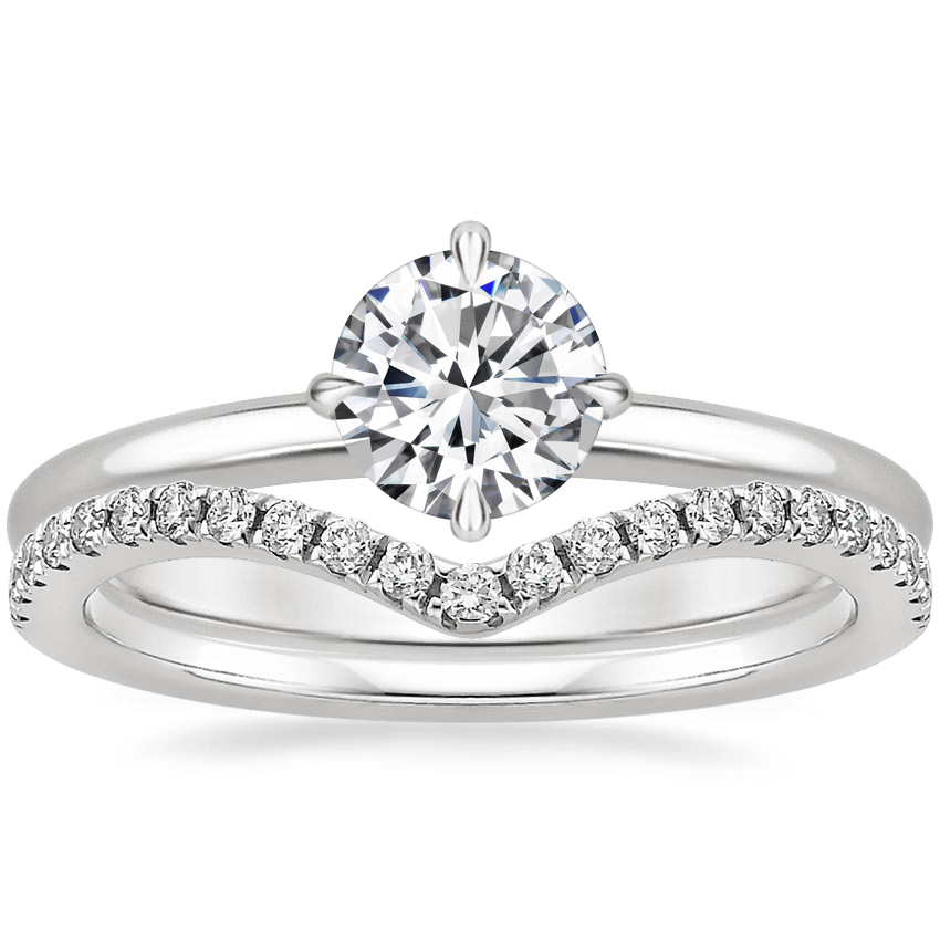 18K White Gold North Star Ring with Flair Diamond Ring (1/6 ct. tw.)