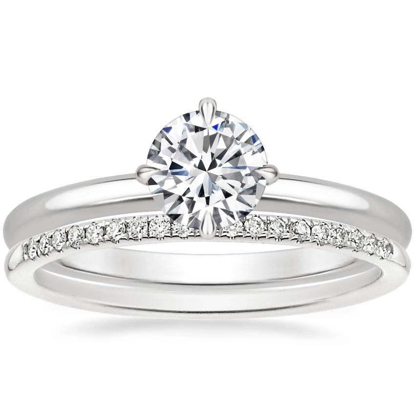 18K White Gold North Star Ring with Whisper Diamond Ring (1/10 ct. tw.)
