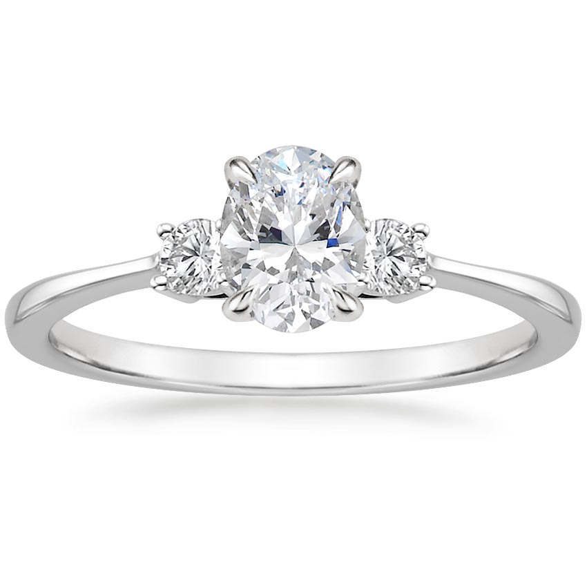 Oval Platinum Selene Diamond Ring (1/10 ct. tw.)