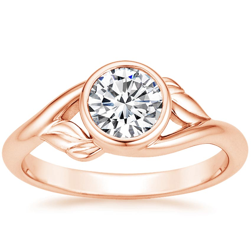 14K Rose Gold Terra Ring, top view