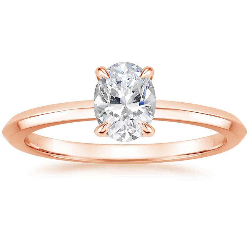 Oval 14K Rose Gold Hazel Ring