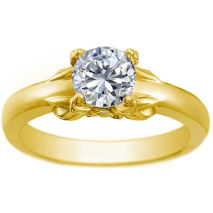 18K Yellow Gold Bouquet Ring, top view
