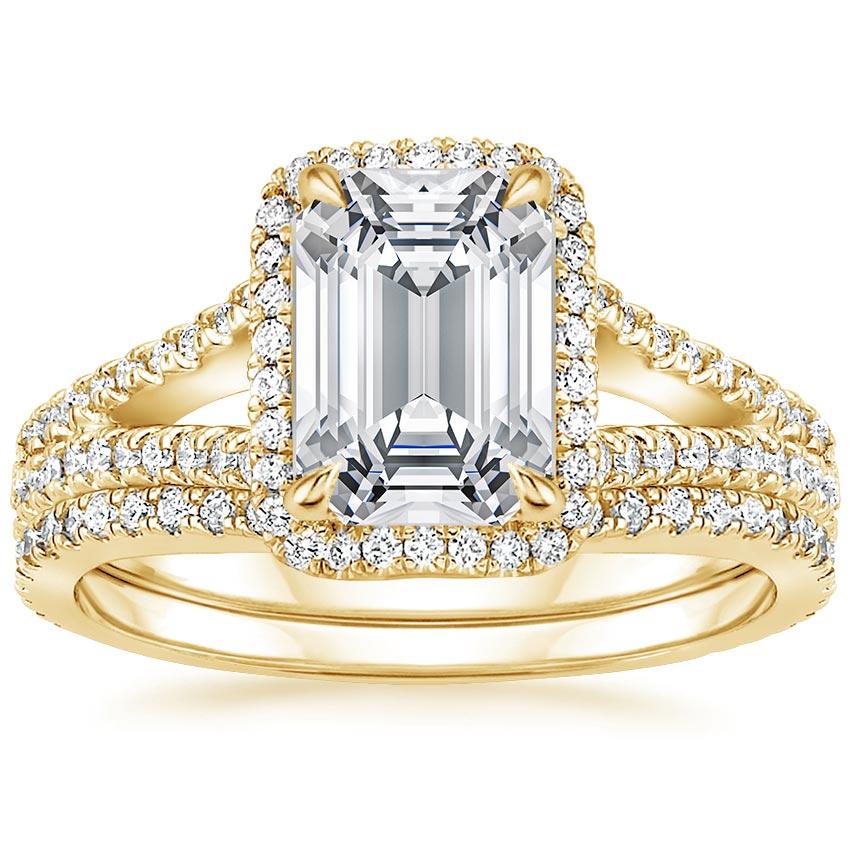 18K Yellow Gold Fortuna Diamond Bridal Set (2/3 ct. tw.)