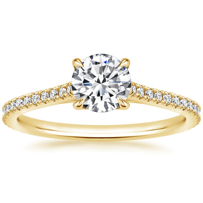 Round 18K Yellow Gold Luxe Lissome Diamond Ring (1/5 ct. tw.)