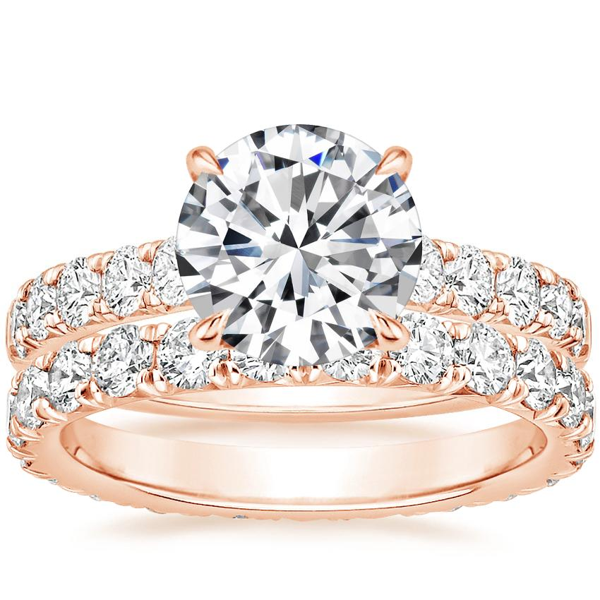 14K Rose Gold Luxe Anthology Diamond Ring (1/2 ct. tw.) with Luxe Anthology Eternity Diamond Ring (1 1/3 ct. tw.)