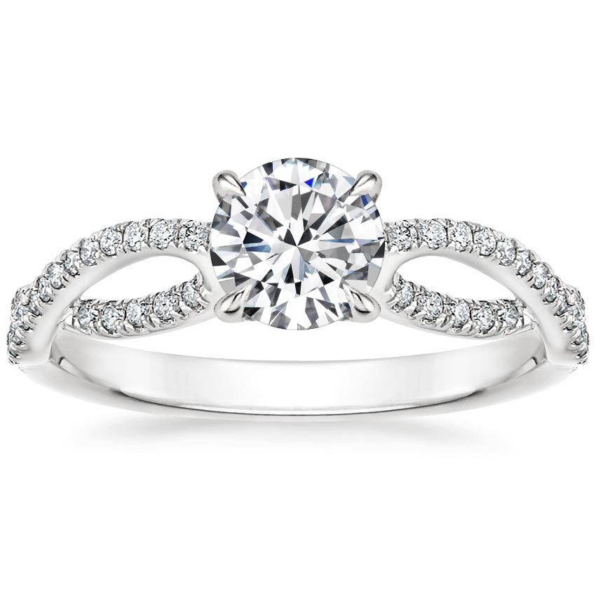 Round Open Loop Engagement Ring