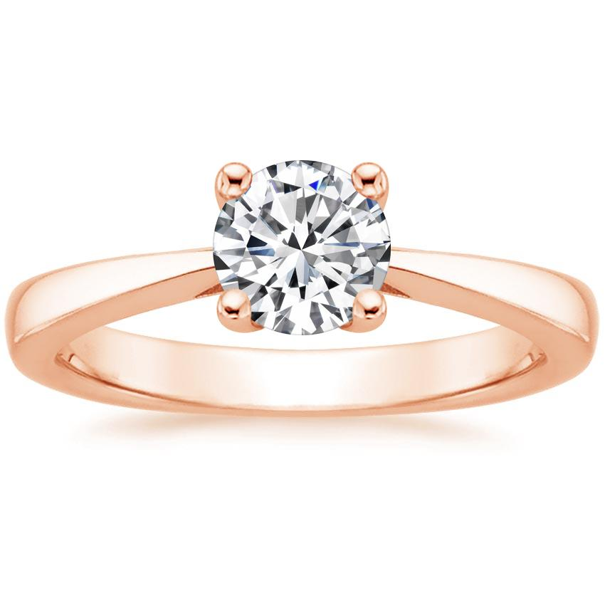 Round 14K Rose Gold Petite Tapered Trellis Ring