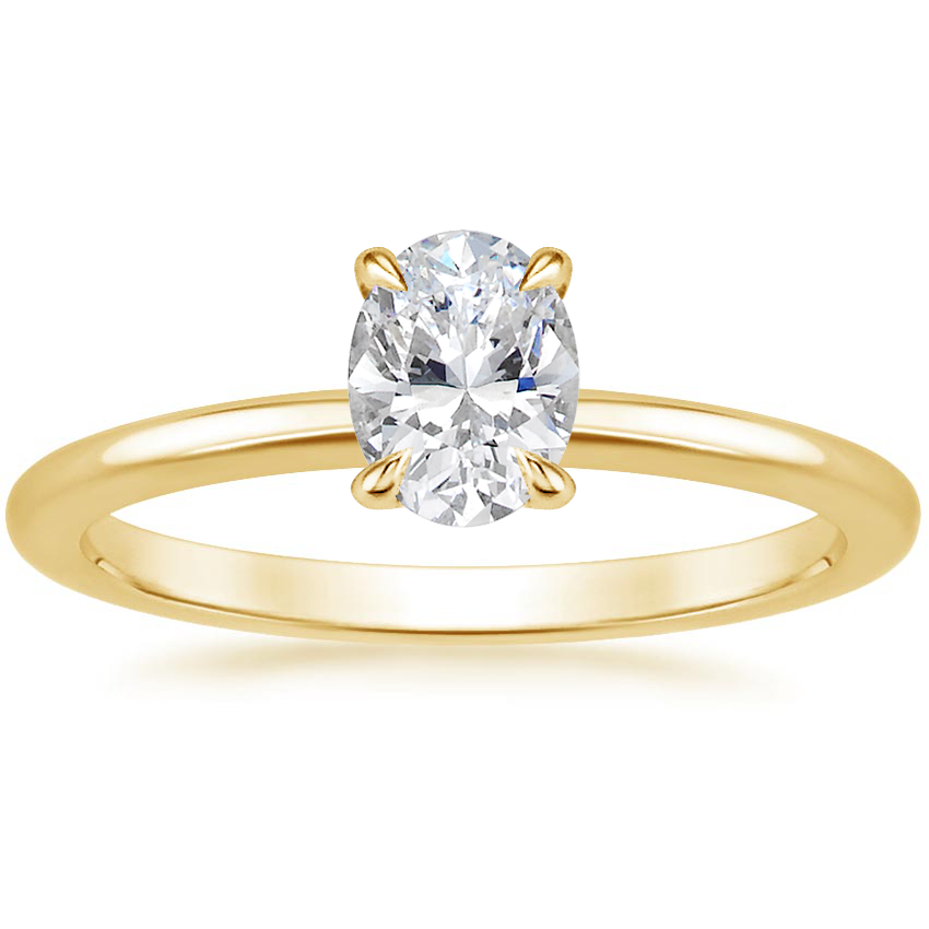 Oval 18K Yellow Gold Everly Diamond Ring