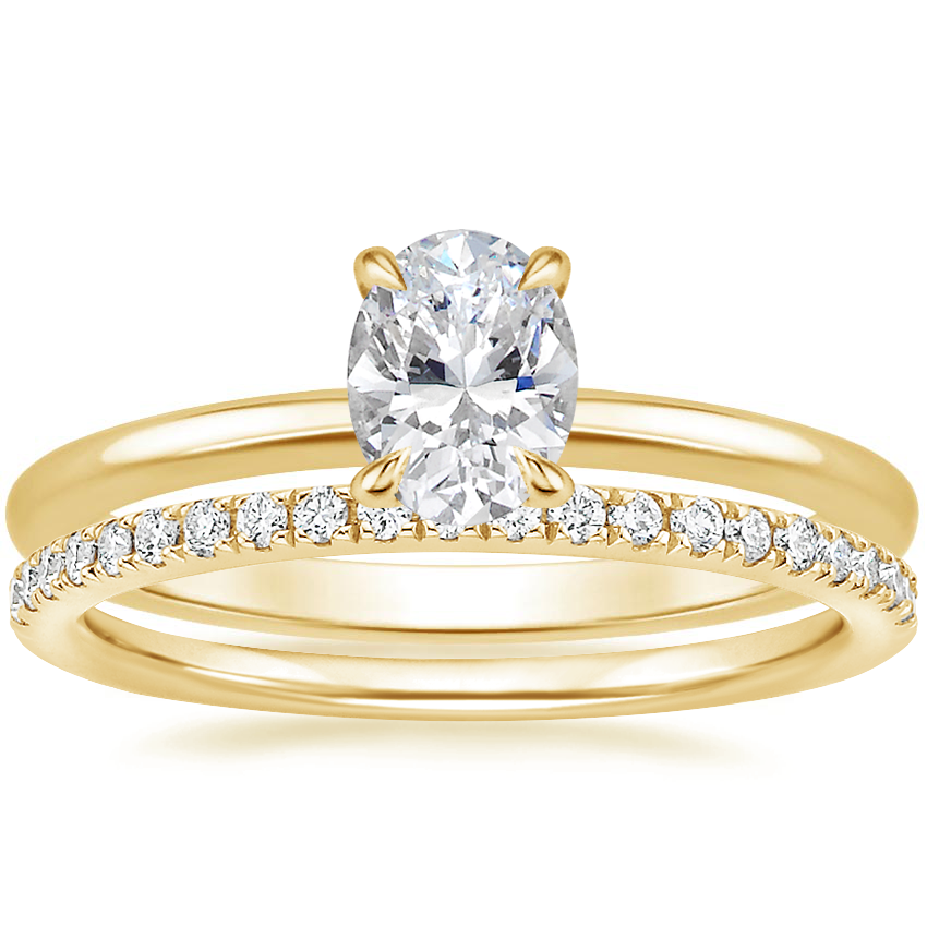 18K Yellow Gold Everly Diamond Ring with Ballad Diamond Ring (1/6 ct. tw.)
