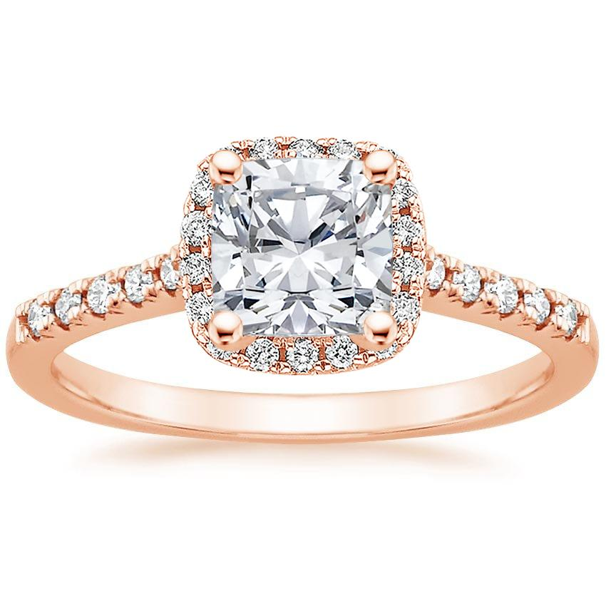 Cushion 14K Rose Gold Odessa Diamond Ring (1/5 ct. tw.)