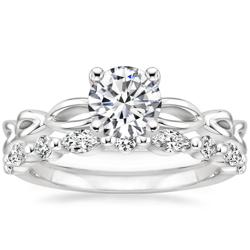 18K White Gold Unity Ring with Versailles Diamond Ring (3/8 ct. tw.)