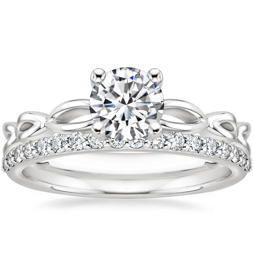 Platinum Unity Ring with Petite Shared Prong Diamond Ring (1/4 ct. tw.)