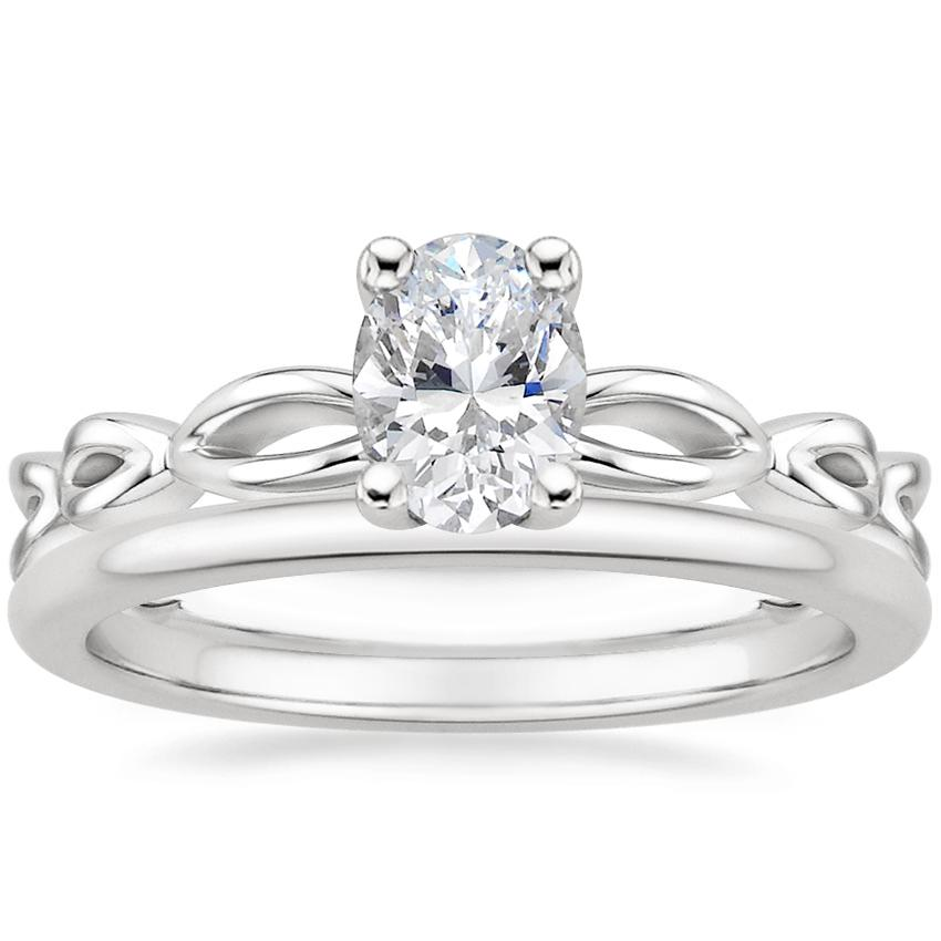 Platinum Unity Ring with Petite Comfort Fit Wedding Ring