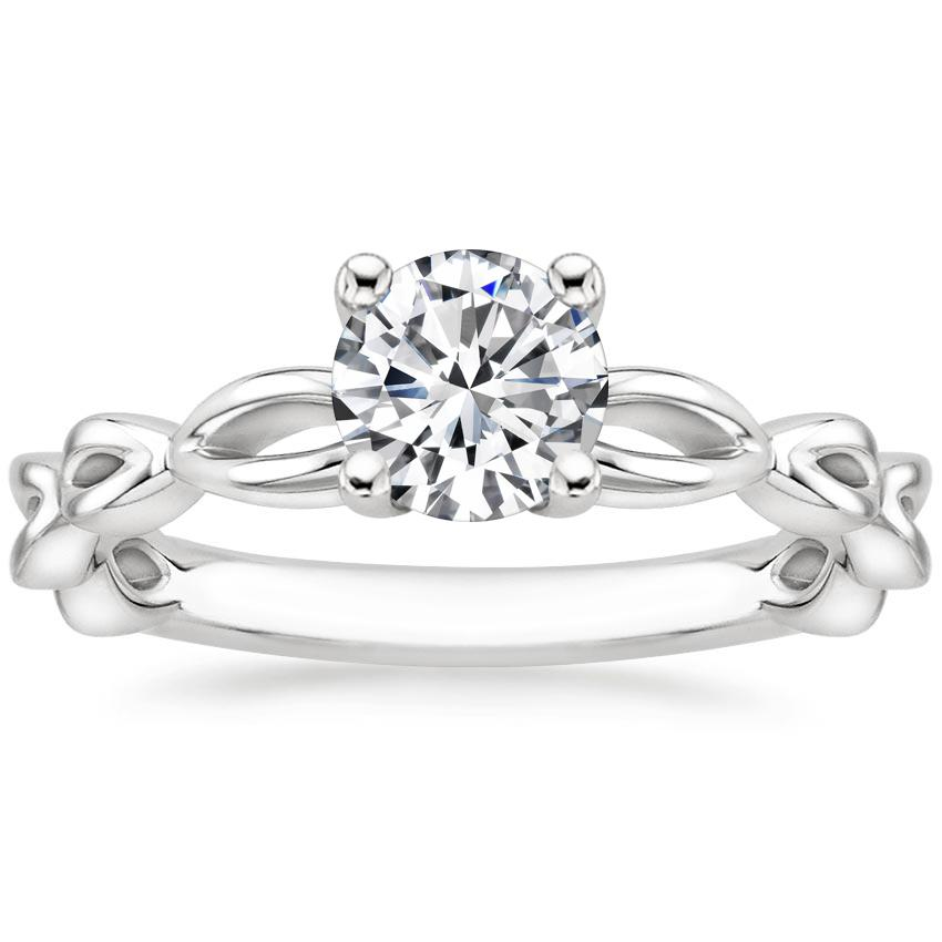 Round Entwined Engagement Ring