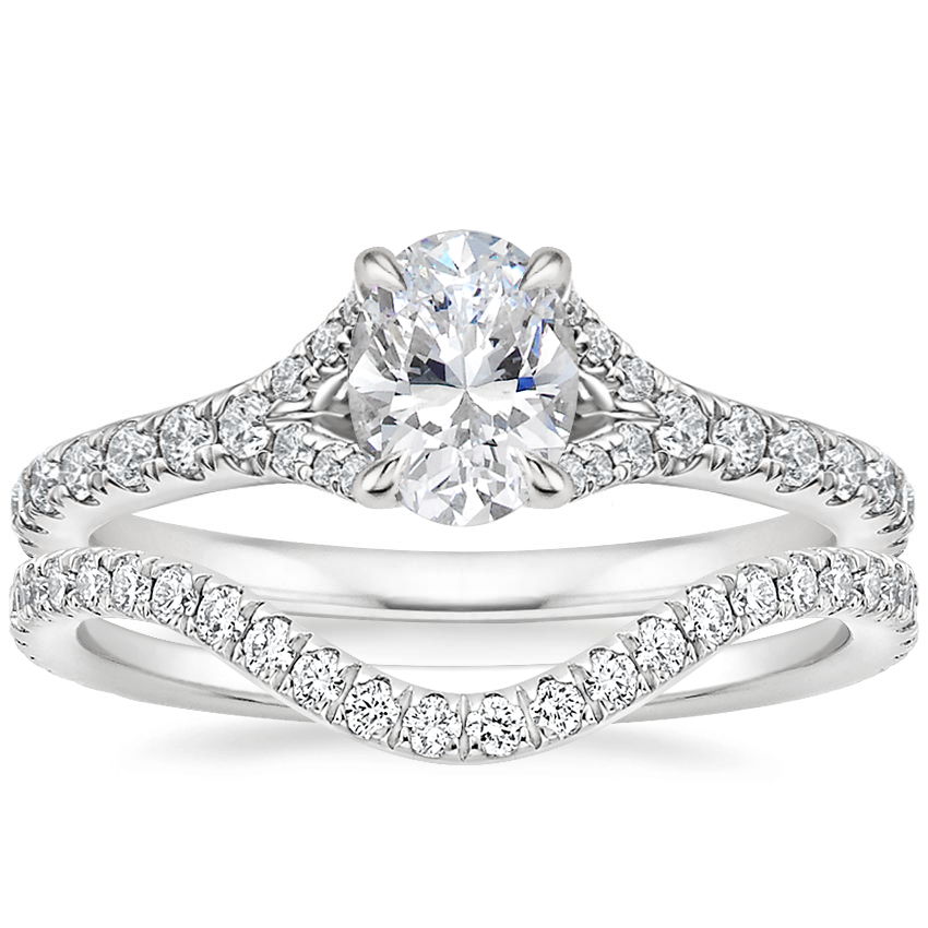 18K White Gold Felicity Diamond Ring (1/4 ct. tw.) with Stanza Diamond Ring