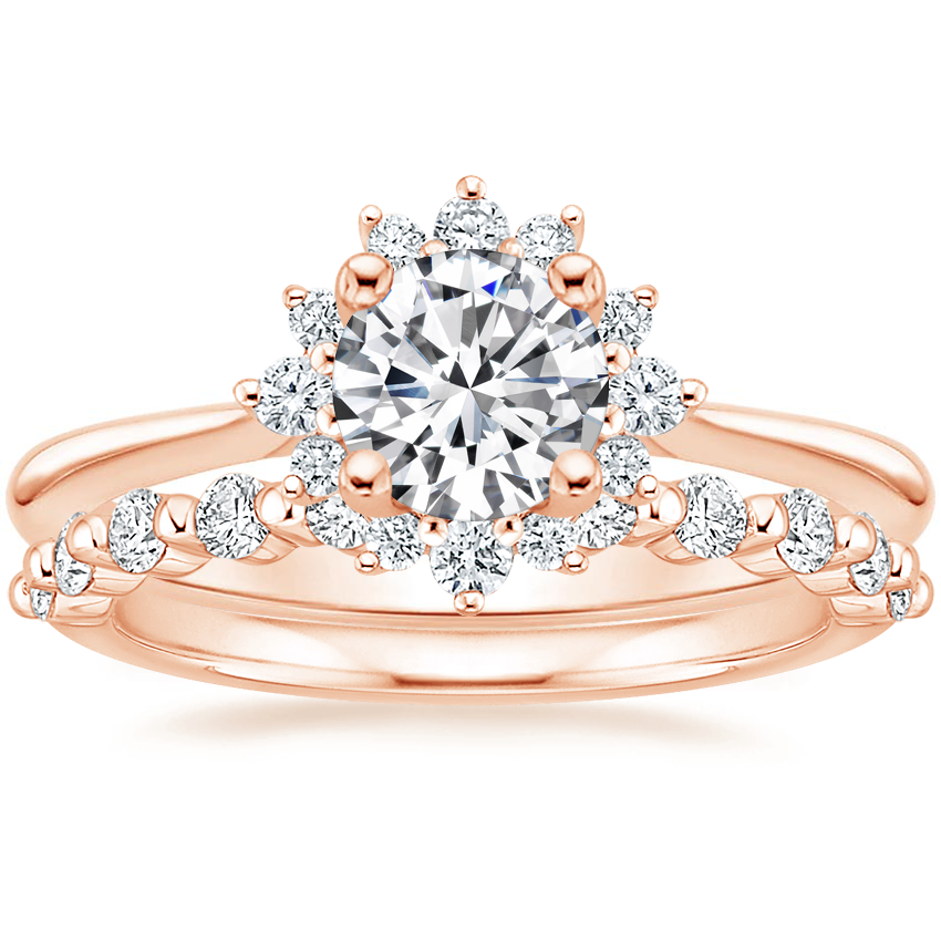 14K Rose Gold Sol Diamond Ring with Marseille Diamond Ring (1/3 ct. tw.)