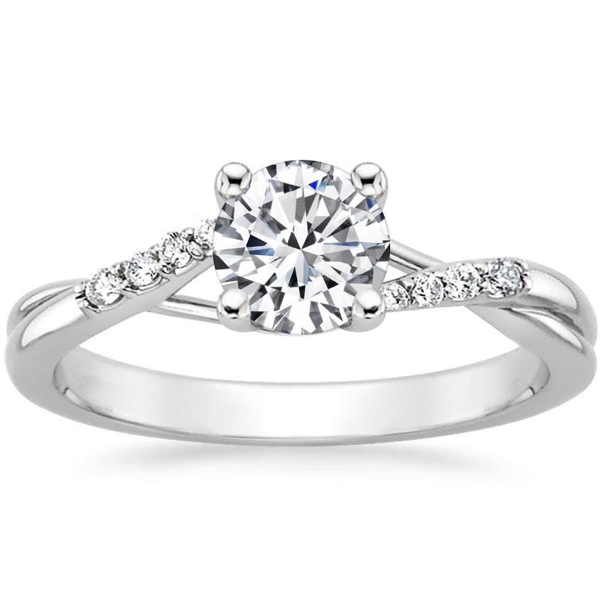 Round Trellis Twist Engagement Ring