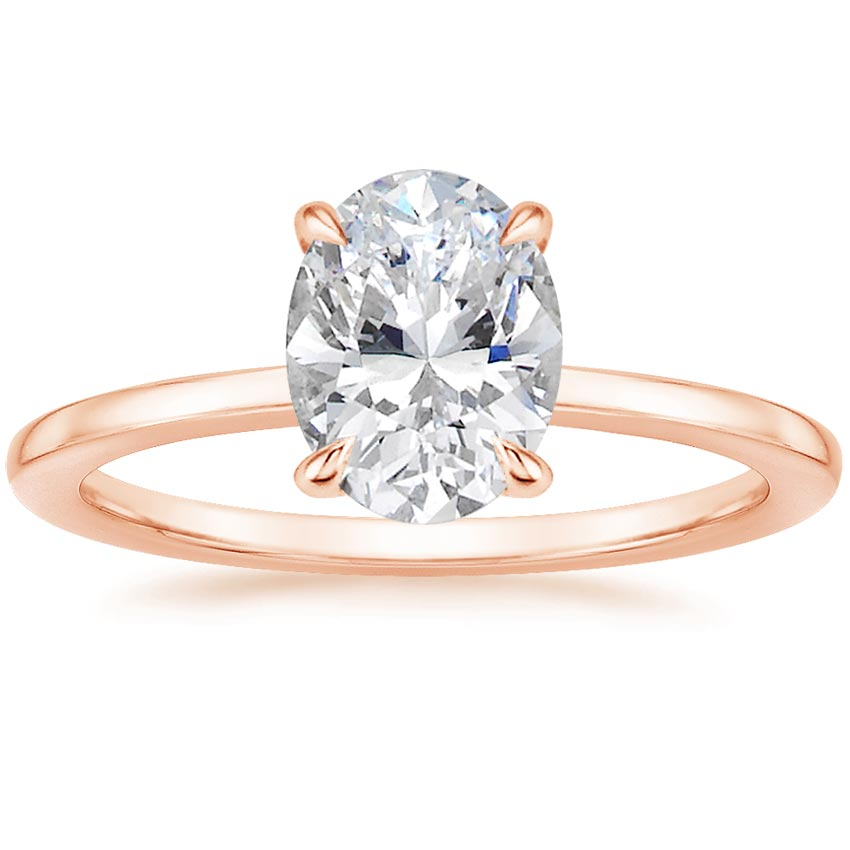 Oval Surprise Diamond Engagement Setting
