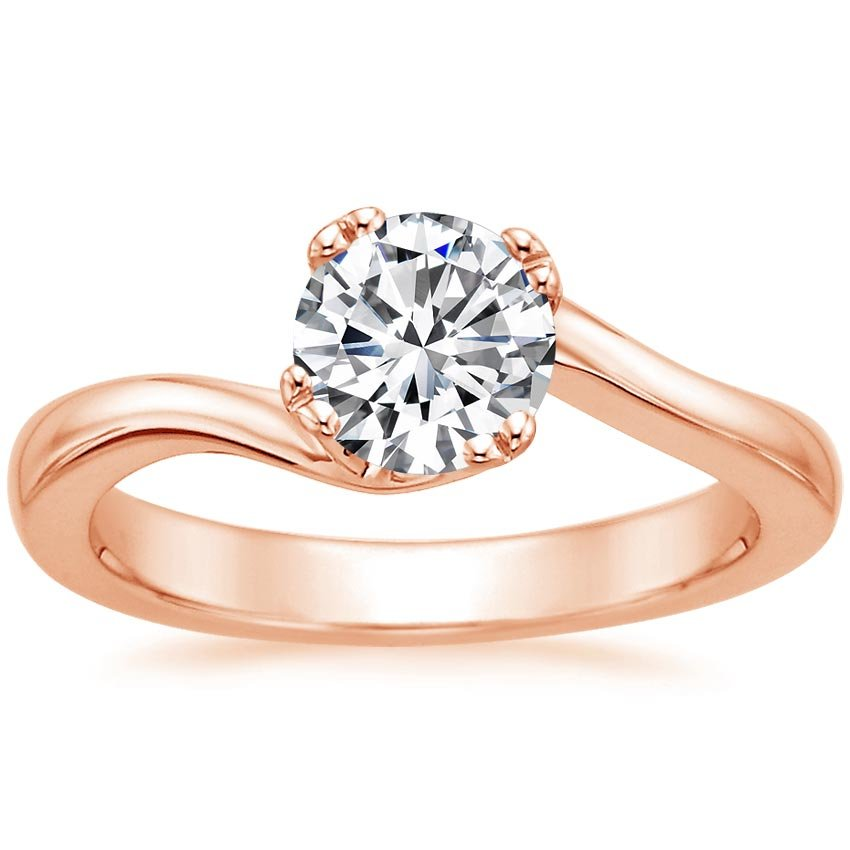 14K Rose Gold Seacrest Ring, top view