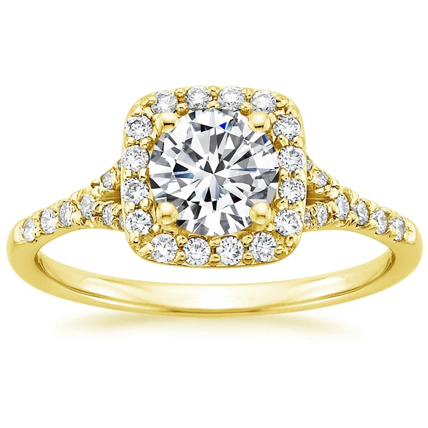 18K Yellow Gold Harmony Diamond Ring, top view