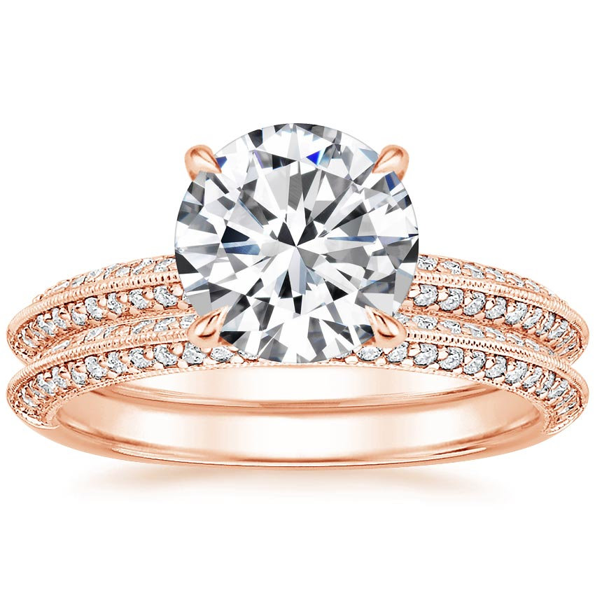 14K Rose Gold Callista Diamond Bridal Set (1/3 ct. tw.)