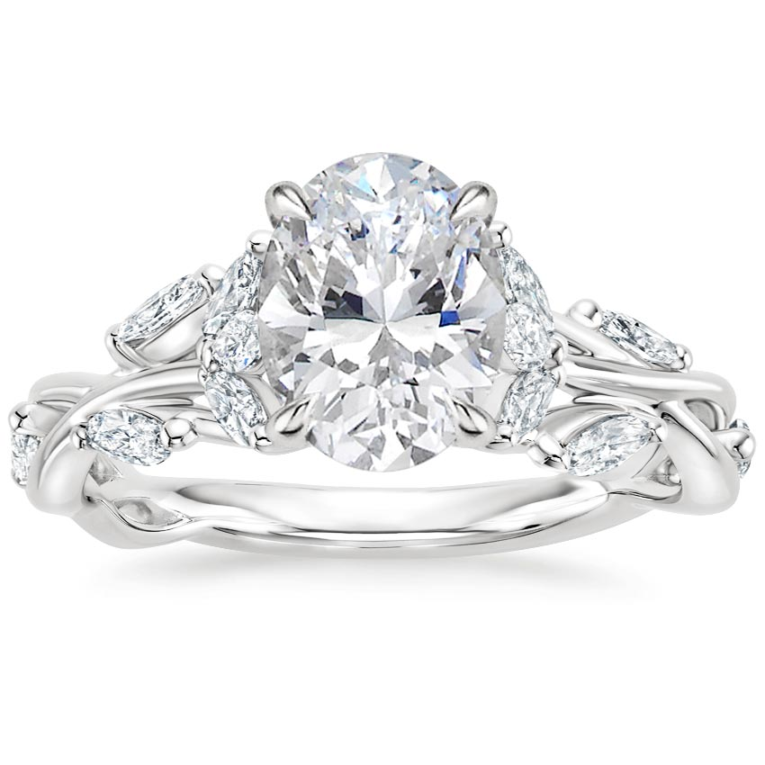 Oval Luxe Winding Vine Engagement Ring