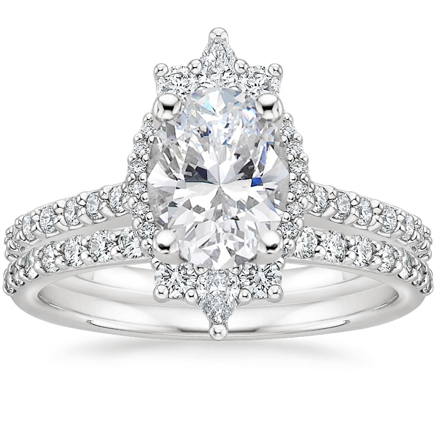 18K White Gold Alma Diamond Bridal Set (2/3 ct. tw.)