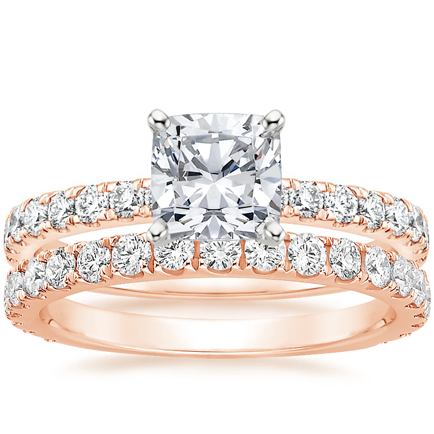 14K Rose Gold Constance Diamond Ring (1/3 ct. tw.) with Sedona Diamond Ring (1/2 ct. tw.)