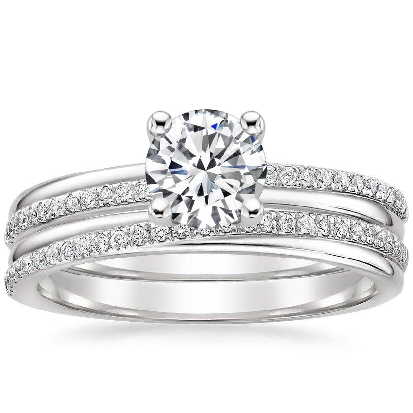 18K White Gold Symphony Diamond Bridal Set