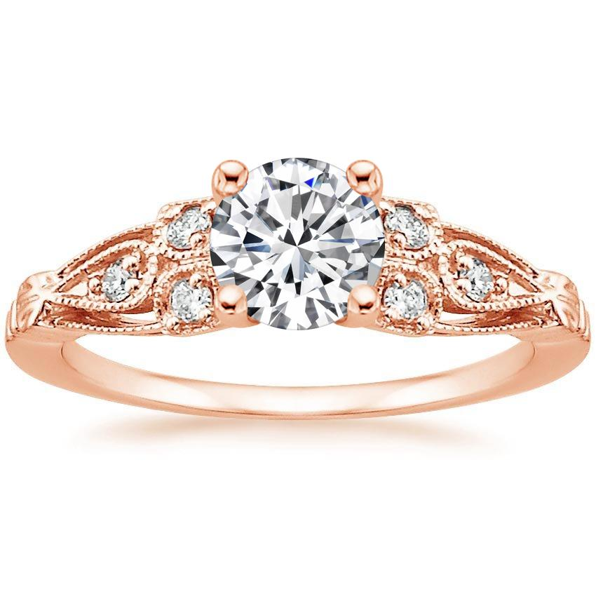 Round 14K Rose Gold Rosabel Diamond Ring