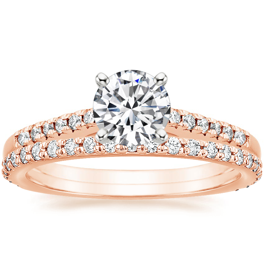 14K Rose Gold Sonora Diamond Ring with Luxe Sonora Diamond Ring (1/4 ct. tw.)