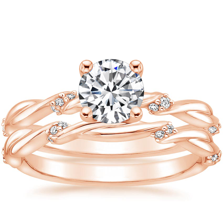 14K Rose Gold Cleo Diamond Bridal Set