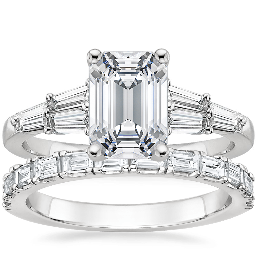 18K White Gold Harlow Diamond Ring (1/2 ct. tw.) with Gemma Diamond Ring (1/2 ct. tw.)
