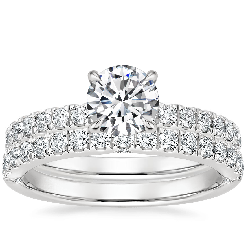 18K White Gold Luxe Heritage Diamond Ring (1/3 ct. tw.) with Luxe Heritage Diamond Ring (1/3 ct. tw.)