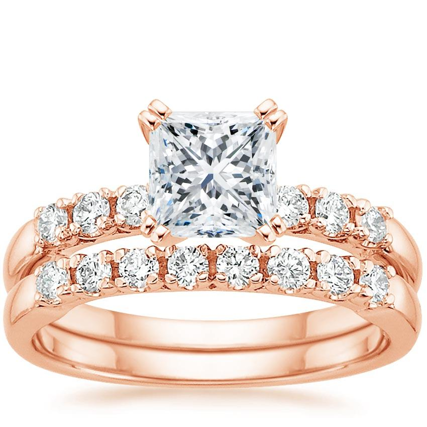 14K Rose Gold Posie Diamond Bridal Set (1/3 ct. tw.)