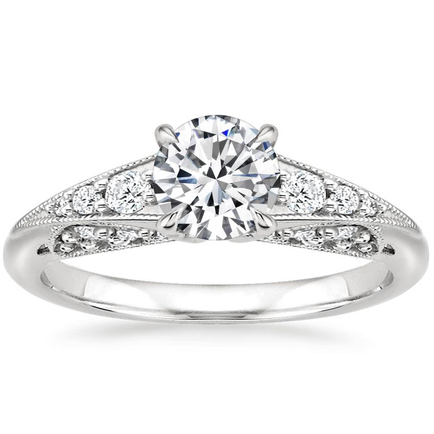 Round Platinum Serafina Diamond Ring (1/4 ct. tw.)