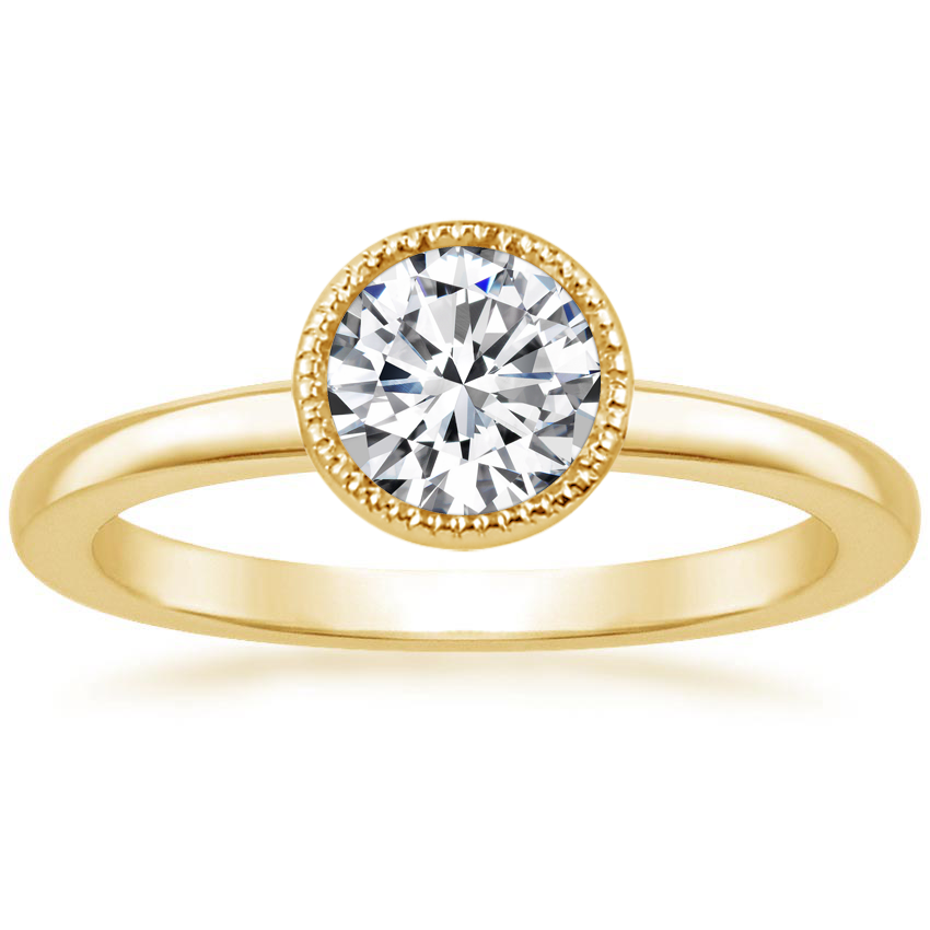 Round Milgrain Bezel Engagement Ring