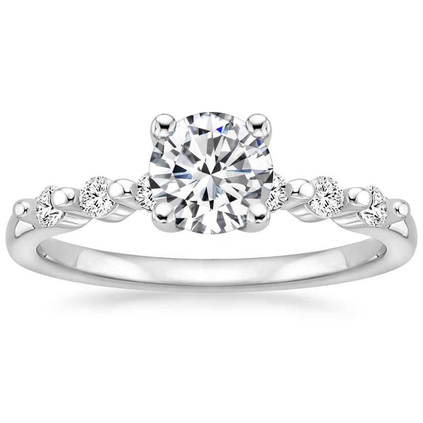 Round Petite Shared Prong Engagement Ring