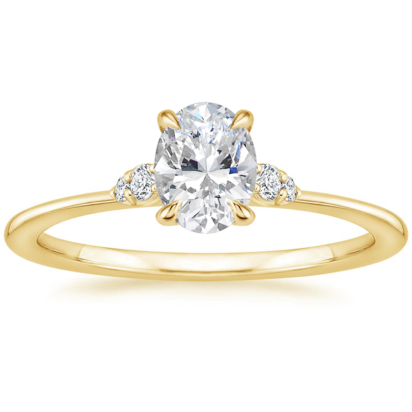 Oval Floral Inspired Engagement Ring