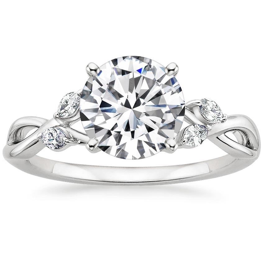 Round Vine Diamond Ring