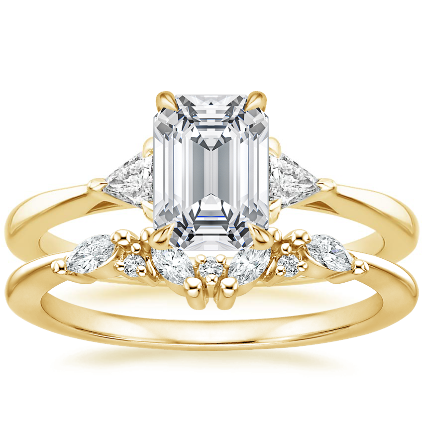18K Yellow Gold Esprit Diamond Ring with Yvette Diamond Ring