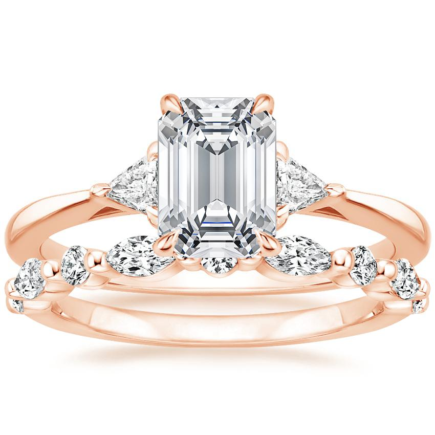 14K Rose Gold Esprit Diamond Ring with Versailles Diamond Ring (2/5 ct. tw.)