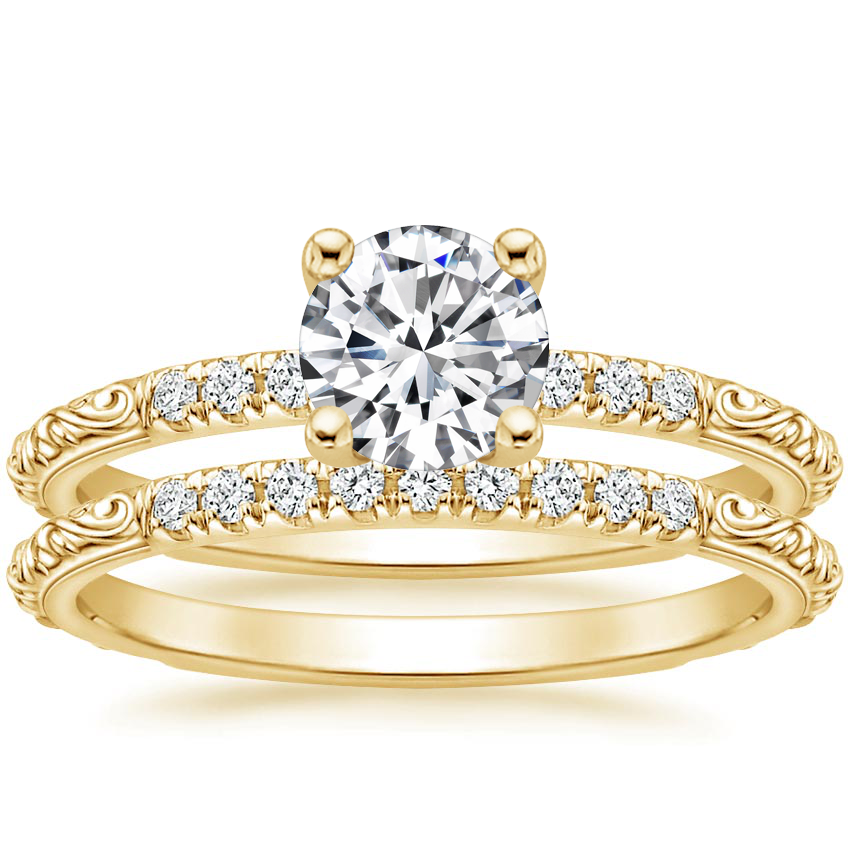 18K Yellow Gold Adeline Diamond Bridal Set